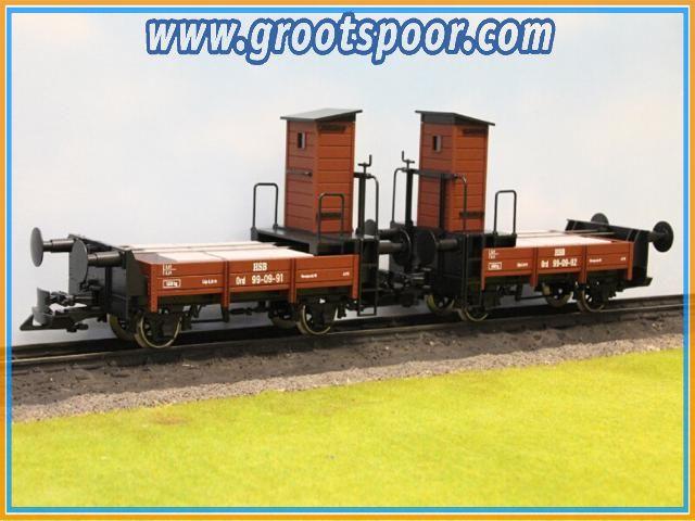 Boerman set 0005-0903 DR 99-01-91 en DR 99-01-92 Rollbock remwagen