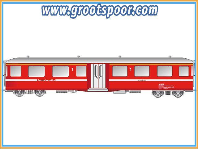 KISS Mitteleinstiegwagen Kürz RhB Fliegende Rätier A1251 Newdesign 2 MI K 23