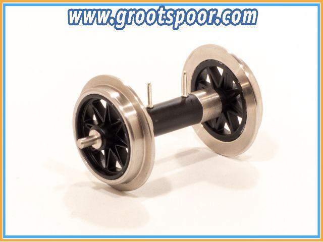 TRAINLINE45 3067321 Metall V Speichenradsatz mit Stromführung KUGELLAGER
