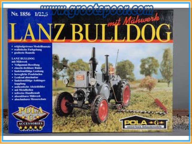 POLA 331856 Lanz Bulldog mit Mähwerk