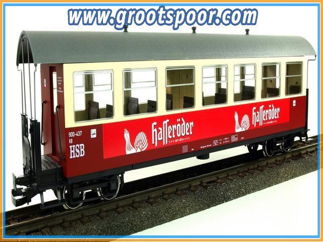 """Trainline45 3530842 HSB Personenwagen, 7 Fenster 900-435 """"Hasseröder Pils"""""""