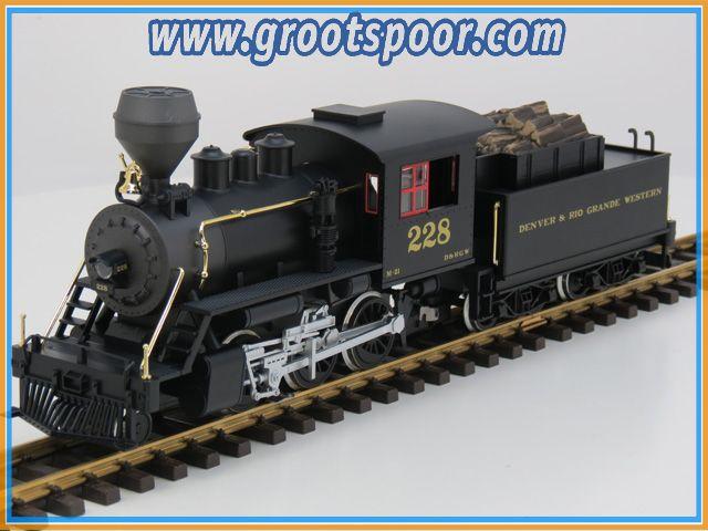PIKO 38214 G-US Mogul mit Holztender D&RGW mit Dampf und Sound