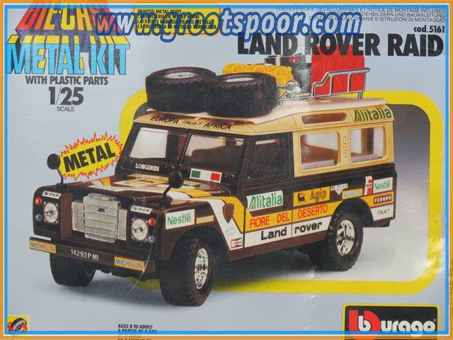 Burago 5161 Land Rover Raid Die-Cast Metal Kit