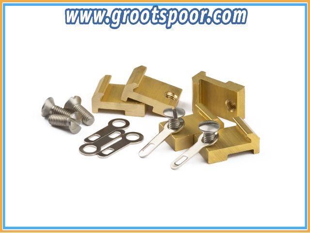 MASSOTH 8100520 Gleisanschlussverbinder Spur G, Messing, 20 Stück