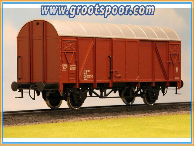 Boerman 0006-0011 64mm  DR Gedeckter Güterwagen Bauart Gmms