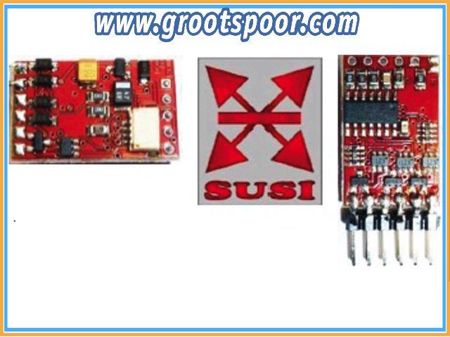 DIETZ DSEF8-S DCC und SUSI  Funktionsdecoder mit 8 Ausgängen, Ausführung mit Stiftleiste