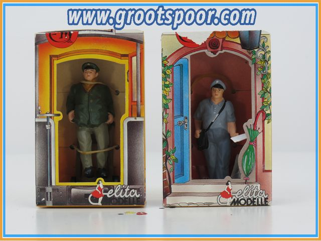 Elita Modelle  Set 10018 / 10022 Dienstmann mit Karre & Postbriefträger