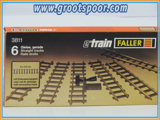 Faller e'train 3811 Gleise,gerade 6x 24cm