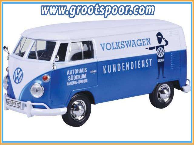 GSDCCmax 00079573 Volkswagen Type 2 (T1) Delivery van *Kundendienst*, blue/white