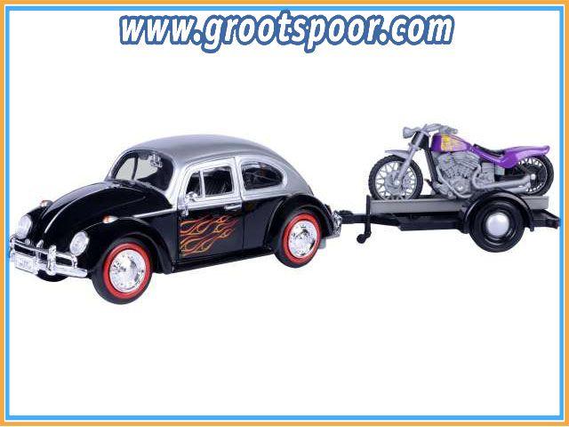 GSDCCmax 00079675 Volkswagen Beetle *Motorbike*, black/silver 1/24