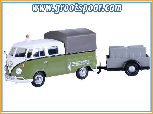 GSDCCmax 00079676 Volkswagen T2 pick-up *Road Maintenance Trailer*, green/white 1/24