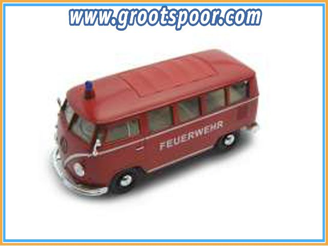 GSDCCwel 00022095Fer 1962 Volkswagen Bus fire engine (Feuerwehr), red
