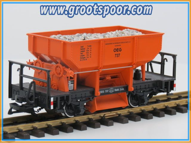 LGB 4041 E Selbstentladewagen OEG 737, Metallrader
