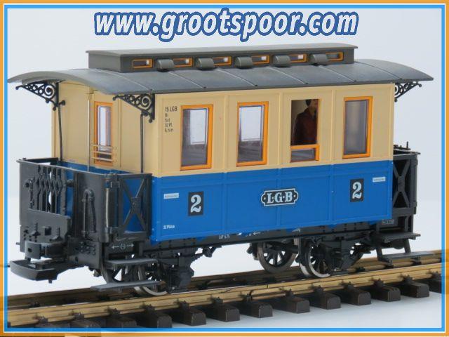 LGB 30120 Personenwagen, Metallrader, 2 Figuren