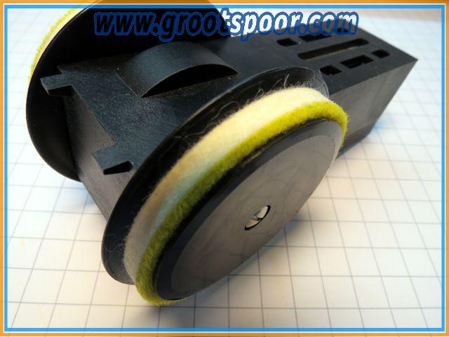 GS LGB 267 Poetswiel nikkel rails voor 20670 en 21670