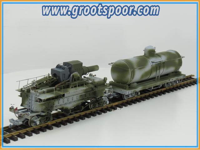 Bachmann/ USA Trains? #2 Army set Unique Einzelstuck, Metallrader