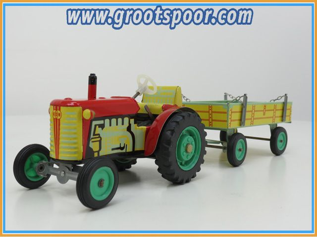 1:20 Traktor and Trailer Alt, sehr Selten CSSR
