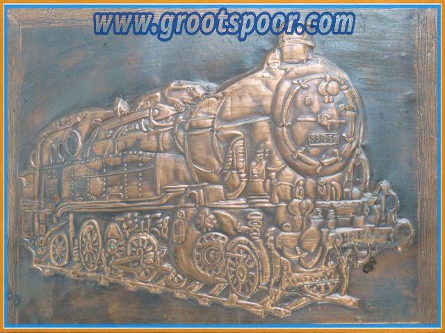 Kupferschild auf Holz BR 93 250