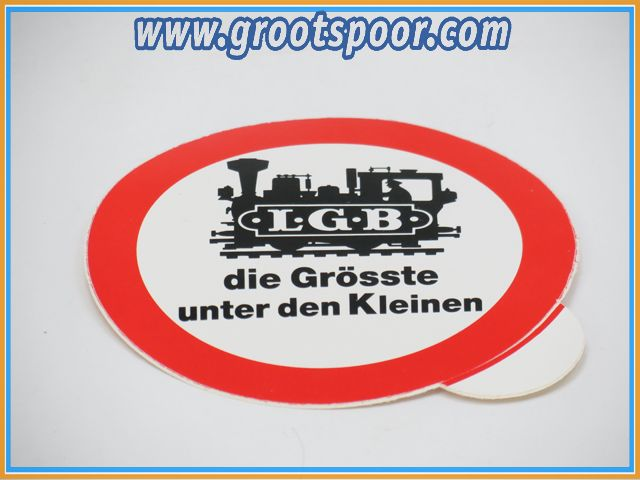 LGB Sticker, Aufkleber 8 cm die Grösste unter den Kleinen