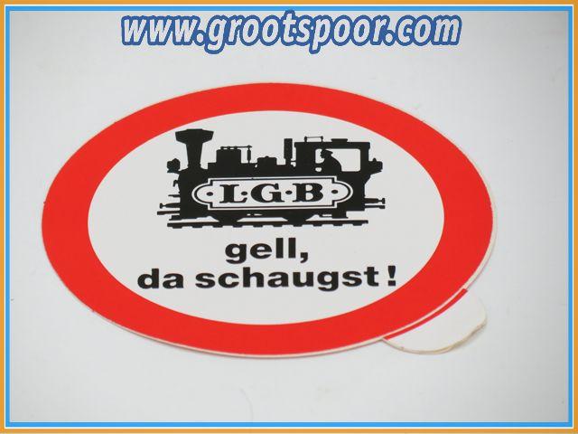 LGB Sticker, Aufkleber 8 cm Gell, da schaugst!