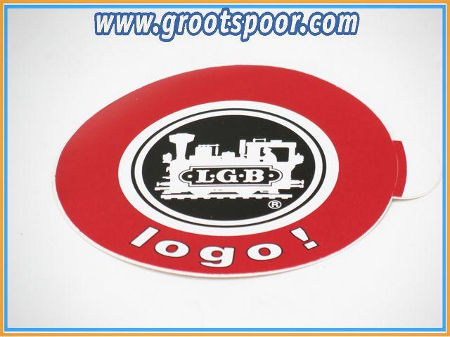 LGB Sticker, Aufkleber 8 cm Logo zw