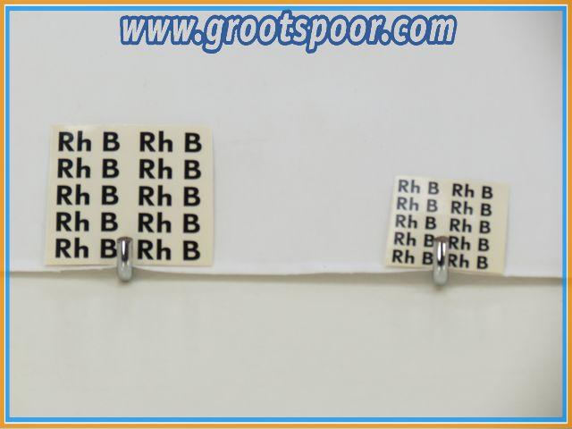 LGB Stickervel 039 Rhb Zwart