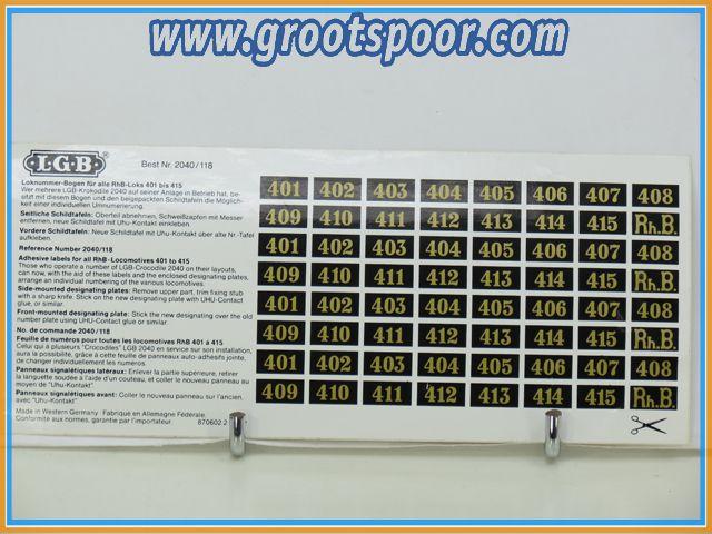 LGB Stickervel 051 Rhb 2040/118