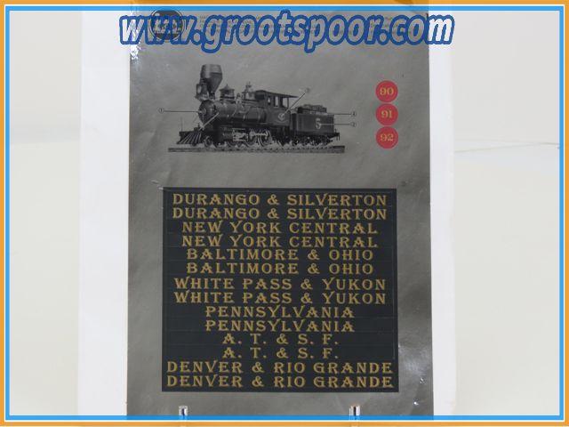 LGB Stickervel 067 Durango & Silverton