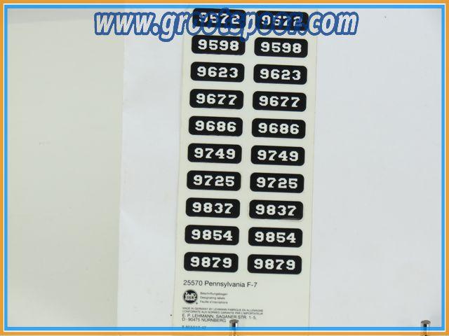 LGB Stickervel 083 voor 25570 Pennsylvania F-7