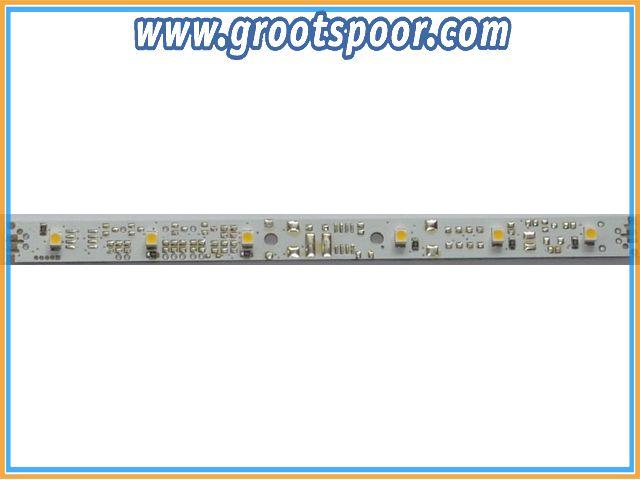 DIETZ D-LL-ERG-WW Waggonbeleuchtung 150x10mm Ergänzungsplatine zu LL-DCC, Lötanschlüsse