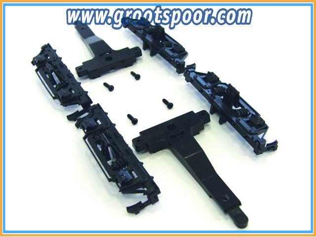 PIKO 36052 G-Drehgestellrahmen o. Räder für US Personenwagen (38600-Serie) 1 Paar