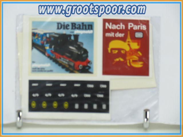 Playmobil Stickervel 078 Die Bahn Abfahrt Ankunft