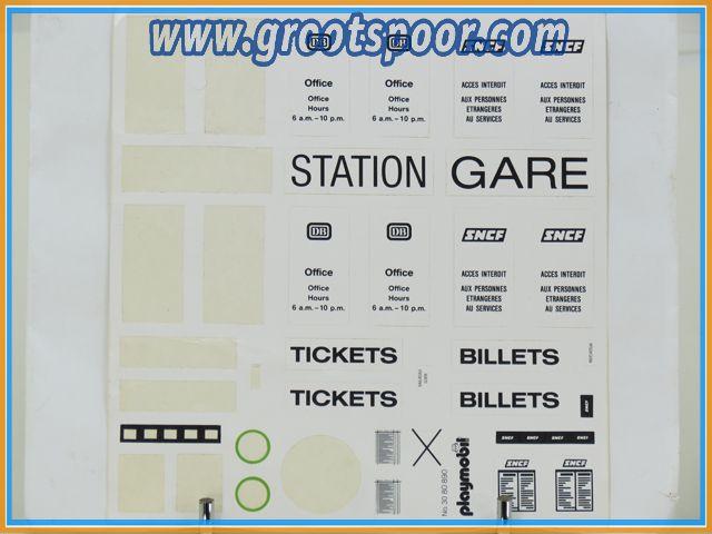 Playmobil Stickervel 079 Station Tickets
