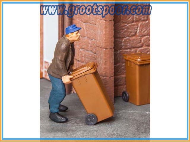 POLA 333223 2 Mülltonnen, braun