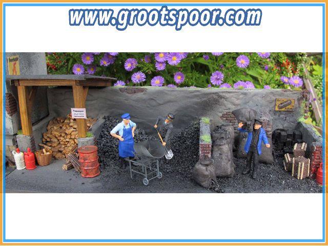 Prehm-Miniaturen 560001 Kohlelager - Reliefhaus als Fertigmodell