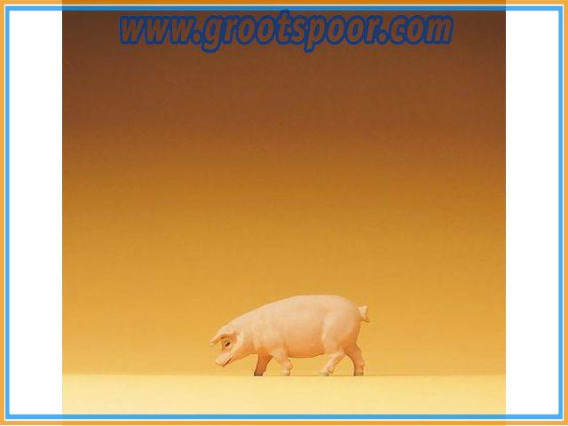 Preiser 47046 Schwein gehend 1:25