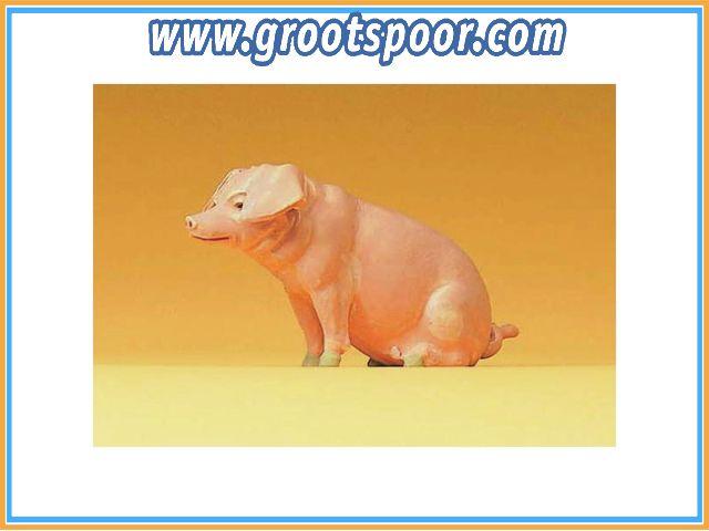 Preiser 47047 Schwein sitzend 1:25