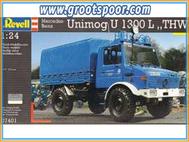 REV07401 Unimog U 1300 L *THW*, plastic modelkit