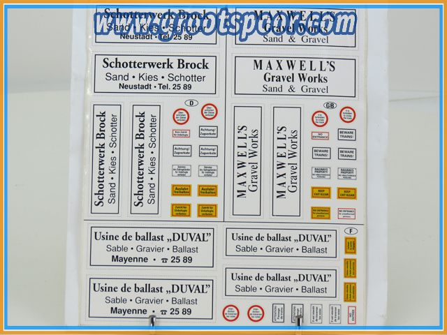 Stickervel 055 Schotterwerk