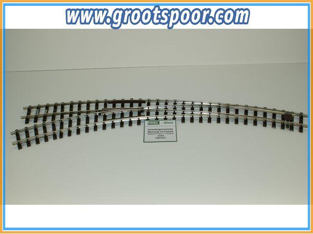 THIEL 1931 Innenbogenweiche 45°/30° Nickel links