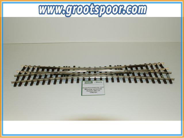 THIEL 2101 Doppelkreuzweiche 12.5° Nickel