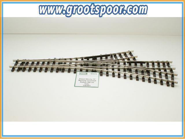 THIEL 3001 Doppel-Weiche 15° Nickel