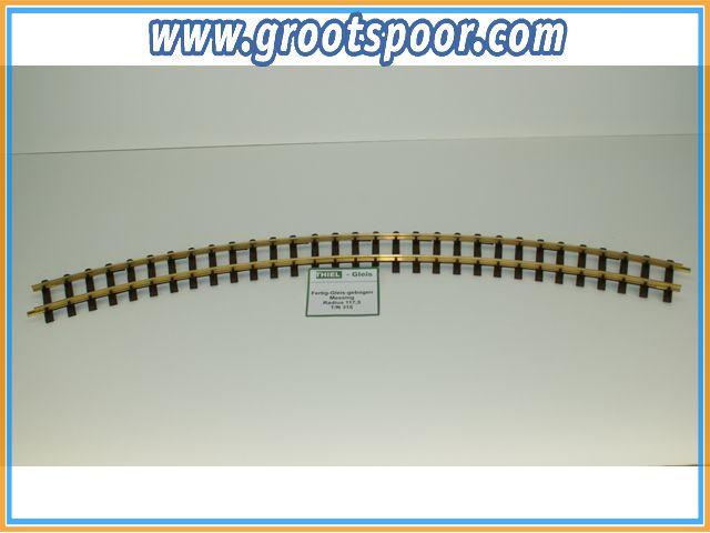 THIEL 315 Fertig-Gleise gebogen. R 117.5cm Messing,Gebruikt