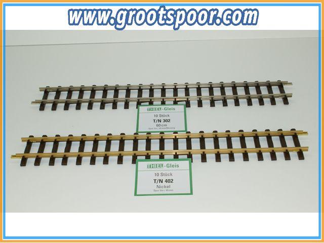 THIEL 402 Fertig-Gleise 60cm Nickel