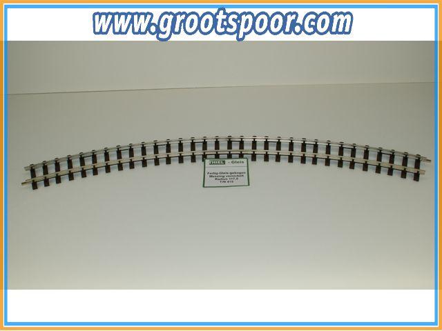 THIEL 415 Fertig-Gleise gebogen. R 117.5cm Nickel