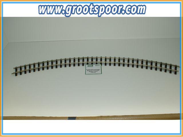 THIEL 416 Fertig-Gleise gebogen. R 135.0cm Nickel