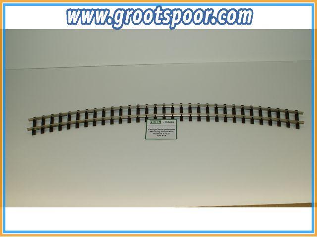 THIEL 418 Fertig-Gleise gebogen. R 175.0cm Nickel