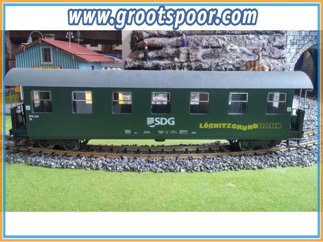 TRAINLINE45 3950740 DR/SDG Personenwagen 7 Fenster, 970-361, Lößnitzgrundbahn