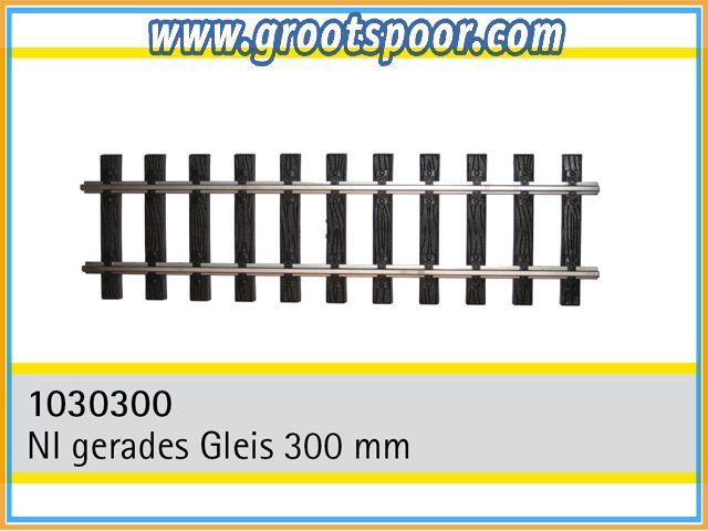 TRAINLINE45 1030300-5 Nickel gerades Gleis 300mm 5 Stück