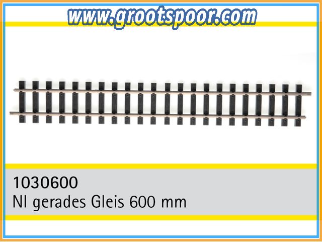 TRAINLINE45 1030600-5 Nickel gerades Gleis 600mm 5 Stück